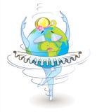 Earth rotates Stock Image