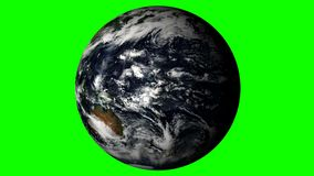 Earth  Rotating on a Green Background. Loopable stock video