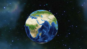 Earth rotating in space stock video
