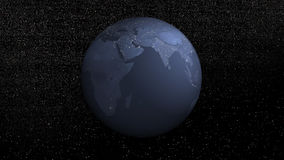 Earth rotation by night - 3D render stock video