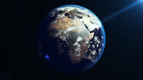 Earth Rotation in Space. Africa continent. Stock Photography