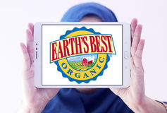 Earth`s Best baby food company logo Royalty Free Stock Images