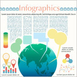 The Earth's infographics Royalty Free Stock Photo