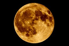 Lunar eclipse - Full Moon Luna. Earth`s permanent natural satellite - the Moon during a Lunar eclipse Blood Moon - umbra. A lunar eclipse occurs when the Moon royalty free stock images