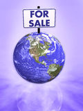 Earth for sale 3d Royalty Free Stock Image