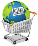 Earth For Sale With Barcode Stock Image