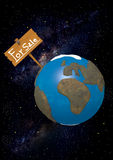 Earth for Sale on starry background Stock Image