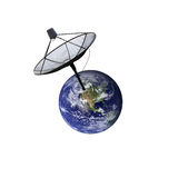 Earth and Satellite. Stock Photography
