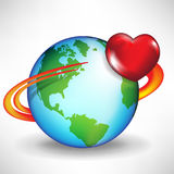 Earth and satellite heart Stock Photos
