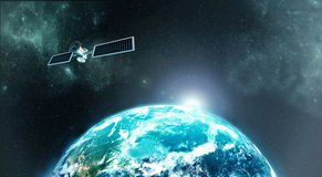 Earth satellite royalty free stock images