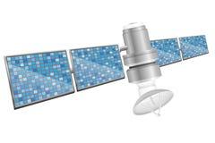 Earth satellite sputnik vector illustration Royalty Free Stock Image