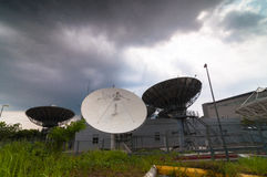 Earth satellite station. This Earth satellite station located at cyberjaya malaysia mainly using for media communication stock photos