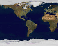 Earth Satellite View Royalty Free Stock Photo