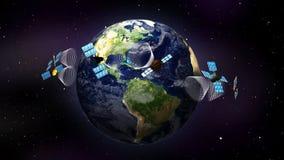 Earth and Satellites 1 - LOOP vector illustration