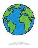 Earth scribble. A Earth scribble, felt pen style vector illustration