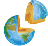Earth section Stock Images
