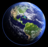Earth in shadow. 3d rendering Stock Photos