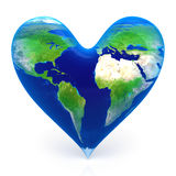 Earth in the shape of a heart Royalty Free Stock Photo