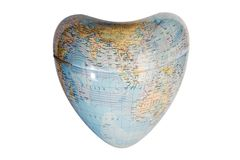Earth shaped heart Royalty Free Stock Photo