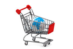 Earth in a Shopping cart Stock Image