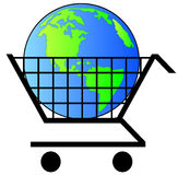 Earth in shopping cart Royalty Free Stock Photo