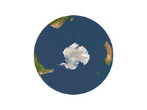 Earth Showing Antarctica Royalty Free Stock Photo