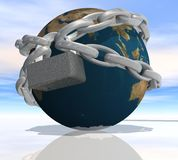 Earth shrouded in a chain Royalty Free Stock Photography