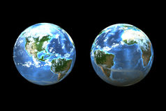Earth sides (3D) Stock Photography