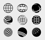 Earth Simple Icons Set Vector Royalty Free Stock Photography