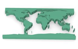 Earth - simplified green plastic map Royalty Free Stock Images