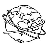 Earth sketch. Hand drawn earth sketch in black and white Royalty Free Stock Photography