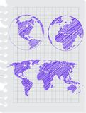 Earth sketch Stock Image