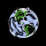 Earth Sketch  Stock Photo