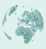 Earth sketch Royalty Free Stock Images