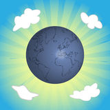 Earth on the sky Royalty Free Stock Images