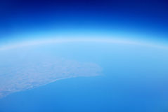 Earth from sky space air blue Stock Image