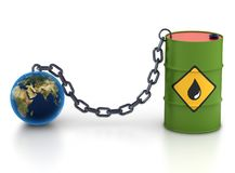 Barrel of oil and earth. Stock Photography