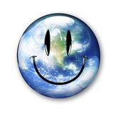 Earth smiley Stock Image