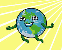 Earth Smiling Stock Photography