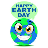 Earth Smiling Mascot Stock Images