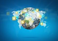 Earth of social network Stock Photos