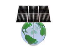 Earth and solar panels Stock Image