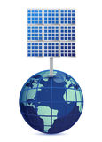 Earth and solar panels Royalty Free Stock Photography