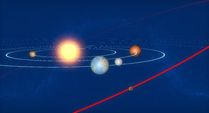 Earth, solar system and asteroid, space, 2004 BL86 Royalty Free Stock Image