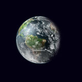Earth in space. Landscape with earth in space Royalty Free Stock Images