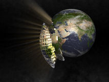 Earth in space Stock Photography