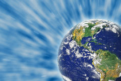 Earth in Space. Photo of the Earth from NASA royalty free stock image