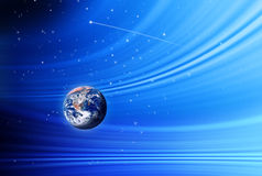 Earth Stars Space Sky. Planet earth in a space background with stars royalty free stock image