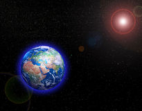 Earth in Space. The view of Earth in Space royalty free illustration