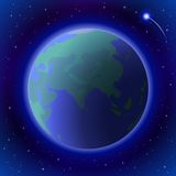 Earth in space Royalty Free Stock Photos